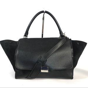 ❤️ CELINE Trapeze Handbag Leather